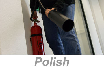 Fire Extinguisher Safety (Polish)