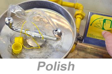 Using Eyewashes and Emergency Showers - International (Polish)