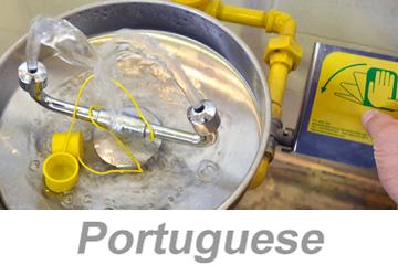 Using Eyewashes and Emergency Showers - International (Portuguese)
