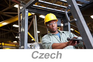 Powered Industrial Trucks - Operators Overview (Czech)