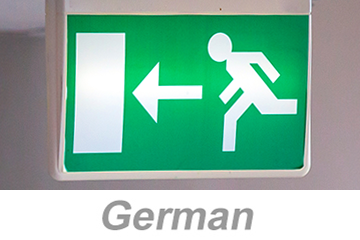 Egress and Emergency Action Plans (German)
