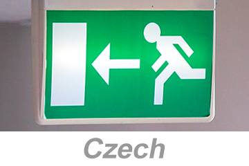 Egress and Emergency Action Plans (Czech)