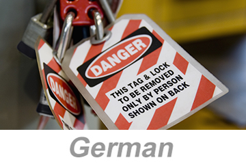 Lockout/Tagout (German)