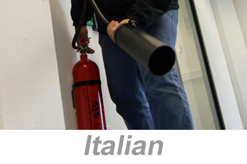 Fire Extinguisher Safety (Italian)