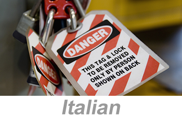 Lockout/Tagout (LOTO) (Italian)